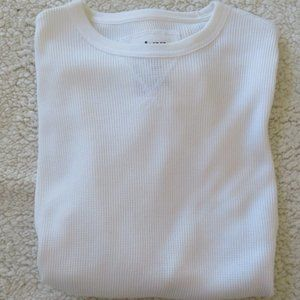 Solid White Long Sleeve Thermal